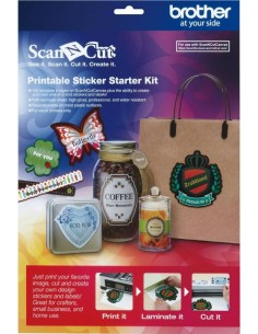 Starter Kit Adesivi Stampabili per Brother ScanNCut