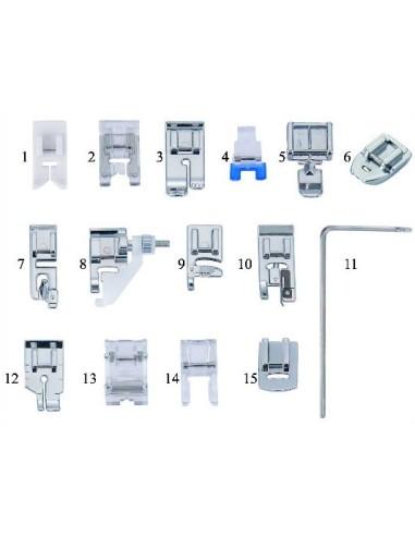 Set Deluxe 15 Piedini per Macchine da Cucire