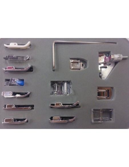 Il kit Deluxe 15 Piedini è adatto a tutte le Macchine per Cucire domestiche con attacco basso