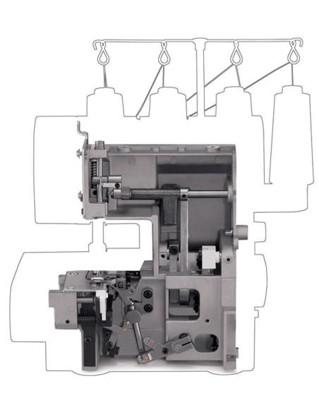 Tagliacuci Singer 14HD854 Heavy Duty Scocca in metallo ultra-resistente