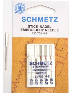 Agujas Schmetz Embroidery para Máquinas de Coser