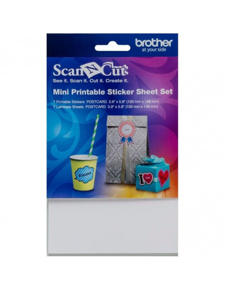 Kit Mini Hojas Etiquetas Adhesivas para Brother ScaNCut