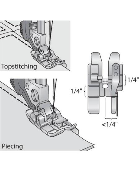 Piedino Quilt con Guida a destra 6 mm Macchine per Cucire Pfaff