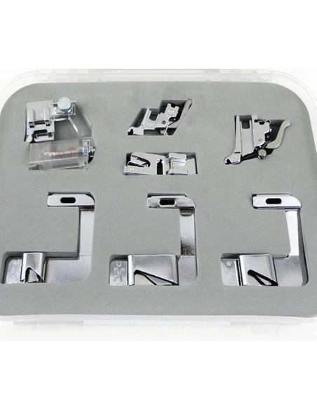 Kit Pies Dobladilladores y Tira de Bies regulable para Máquinas de Coser