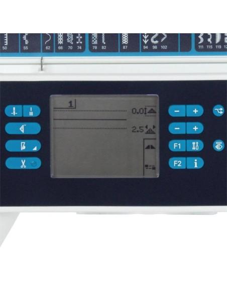 Macchina da Cucire Pfaff Expression 3.5 | Il display Lcd con le indicazioni necessarie per un cucito facile e immediato