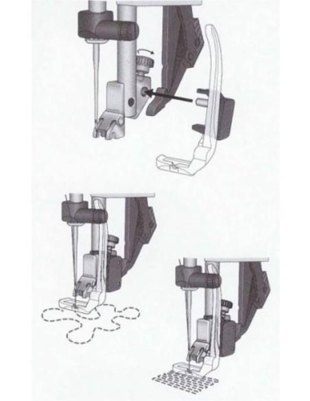 Prensatelas de movimiento libre para zurcidos máquinas de coser Pfaff
