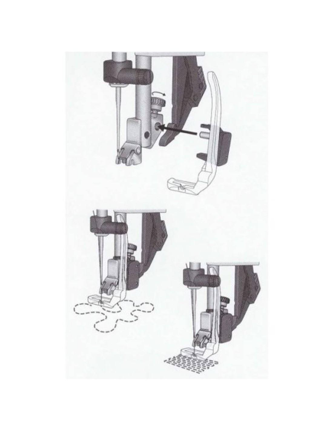 Prensatelas de movimiento libre para zurcidos máquinas de