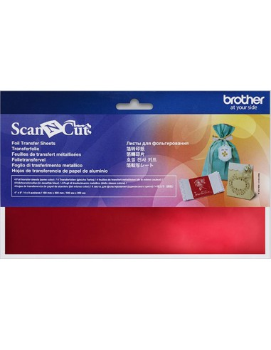 Brother ScanNCut Red Foil Transfer Sheets