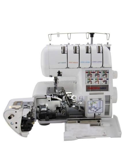 Infilatura semplificata dall'apertura totale della macchina frontalmente per la Necchi N183