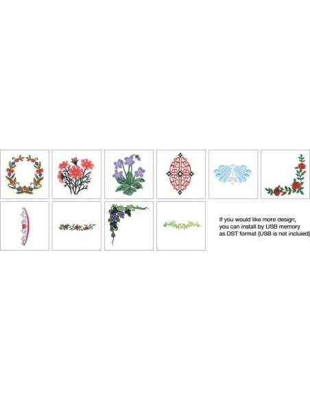 Necchi Britannia Embroidery Designs 2