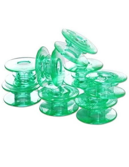 10 Bobinas Plástica Máquinas de Coser Pfaff y Husqvarna