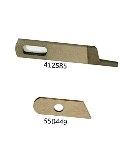 Cuchillo superior y inferior para Remalladoras Singer 14