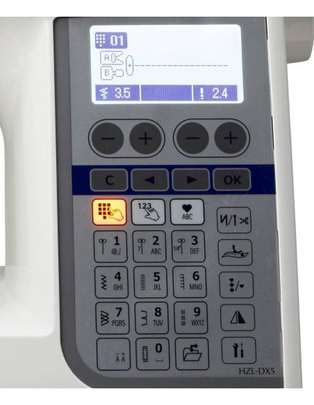 Macchina da Cucire Juki HZL-DX5 | Pannello Comandi Touch-Screen