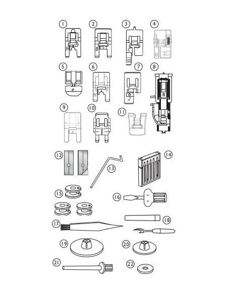Husqvarna Viking Tribute 145M Sewing Machine Accessories