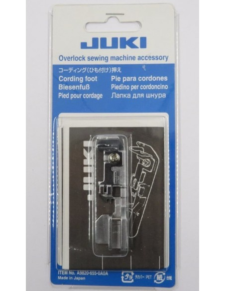 Corded Wavy Edge Foot Overlockers Juki