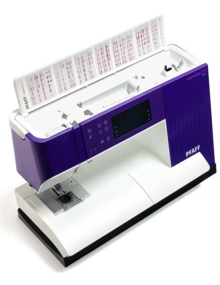 274 puntadas de alta calidad hasta en 9mm de ancho con la Máquina de Coser Pfaff Expression 710