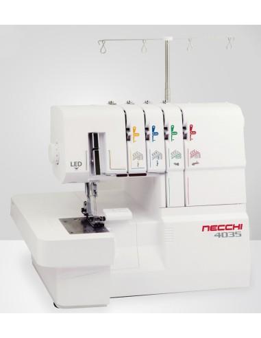 Remalladora con brazo libre, diferencial y tensiones automáticas Necchi N4035
