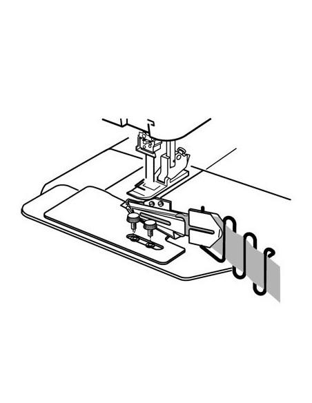 Diagrama de ensamblaje del pie  a embuto pa cinta 42-12 mm para Recubridora Necchi, Elna, Janome