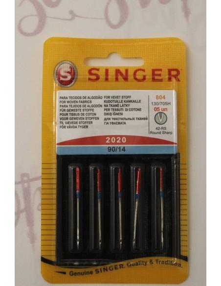 5 aghi per macchina da cucire originali Singer 90/14