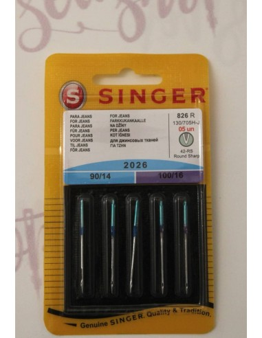 Singer Sewing Machines Needles for Jeans fabric