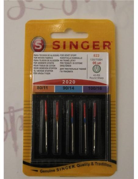 Aghi originali Singer per qualsiasi macchina da cucire e tagliacuci domestica. Assortiti