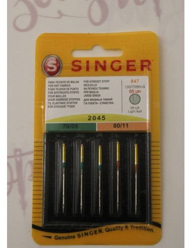 Singer 2045 Stretch Needles for knit fabrics fit all home Sewing and Overlockers Machines