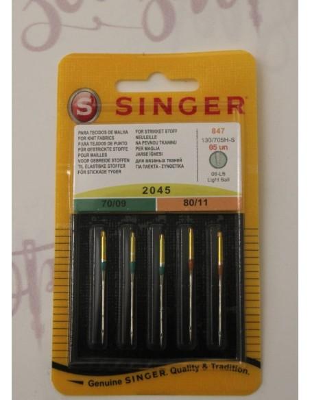 Agujas Singer 2045 para tejidos muy elásticos para Máquinas de Coser y Remalladoras domésticas