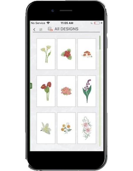 L'App MyPatterns permette di gestire la Necchi Logica Wifi dal tuo dispositivo (non incluso)