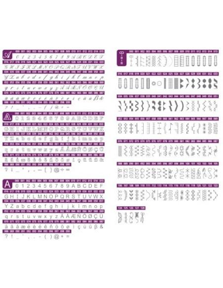 Tabella punti Necchi NC204D scegli tra 439 programmi, 12 asole e 3 font