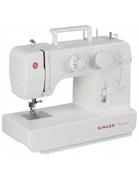 La Singer Promise 1412 è una macchina da cucire portatile ed elettrica con cuciture stretch