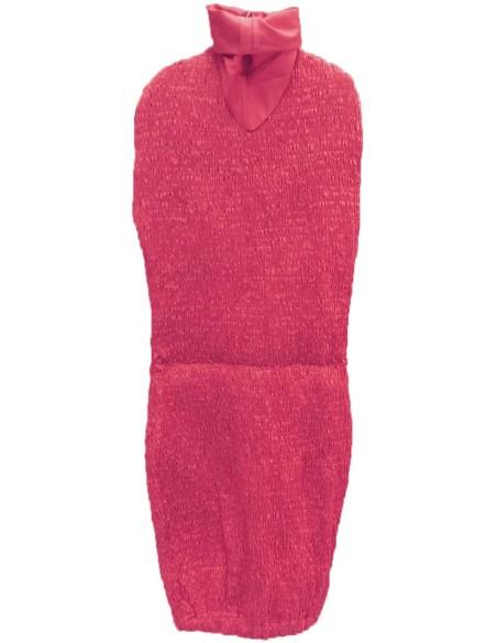 Vestito bordeaux per manichino regolabile sartoriale
