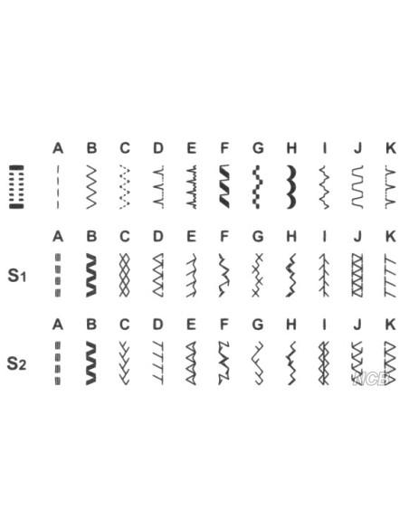 Macchina da Cucire Singer HD 4432   6 punti utili 7 elastici 18 decorativi 1 asola automatica