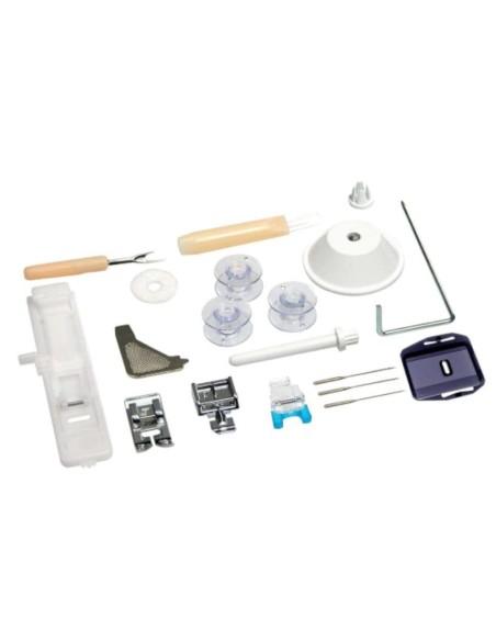 Gli accessori della Necchi K132 comprendono l'indispensabile per il cucito di tutti i giorni