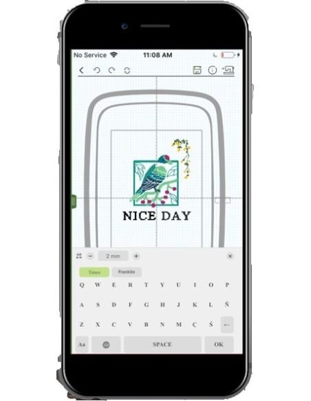 Con la Ricamatrice Necchi Logica Wifi puoi aggiungere lettere e nomi ai tuoi ricami in maniera facile e veloce.