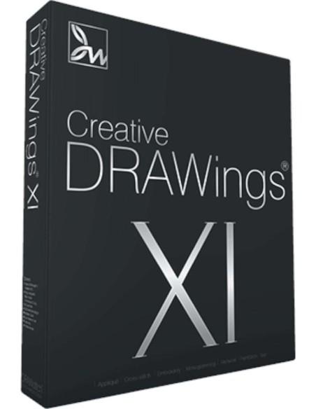 Software per qualsiasi macchina da ricamo Creative Drawings consente risultati professionali ad un costo contenuto.