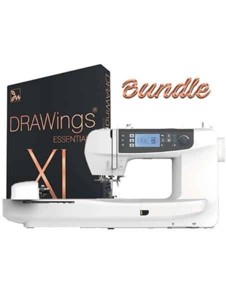 Necchi NCH01AX con software Drawings Essentials XI per progettare ricami professionali
