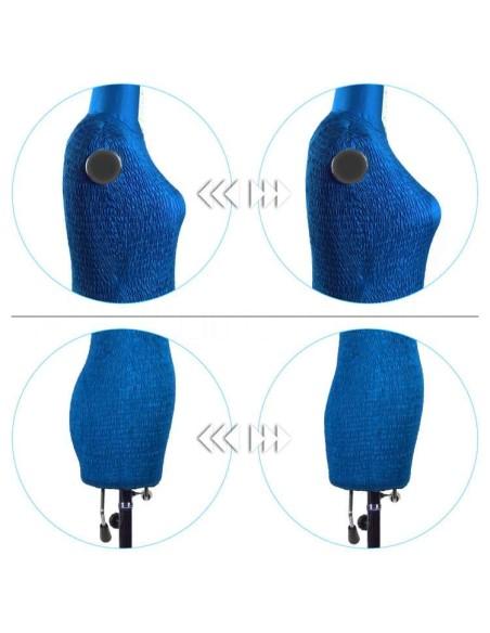 Il manichino regolabile ti permette di regolare altezza e grandezza del seno e dei fianchi