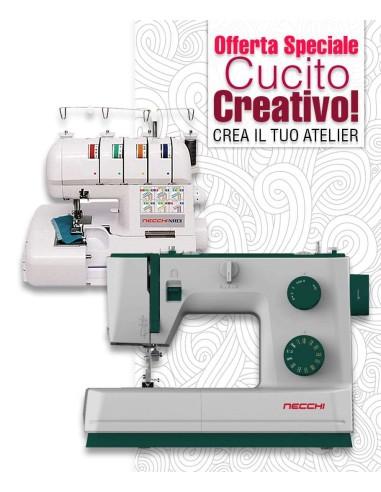 Set Atelier Start Up con macchina Necchi Q421A e tagliacuce N183