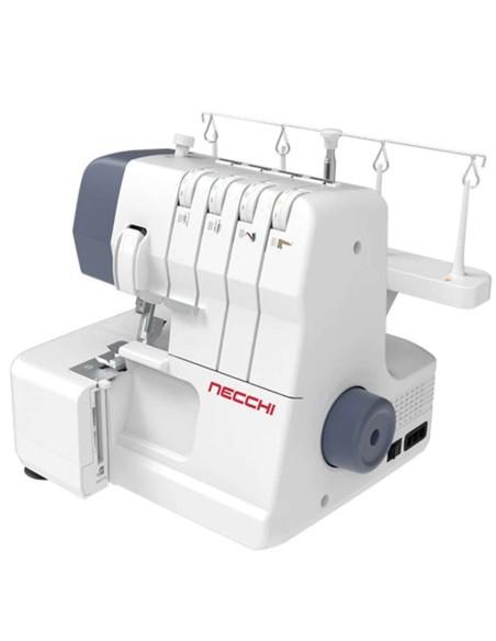 La tagliacuci Necchi NL11C cuce con 1-2 aghi e 2-3-4 fili su qualsiasi tessuto.