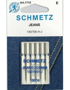 Agujas Schmetz para Jeans para Máquinas de Coser