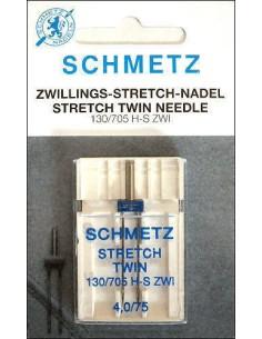Aguja Gemela Schmetz Stretch para Máquinas de Coser