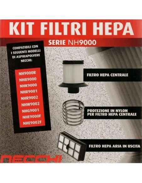Kit Filtri Hepa Aspirapolvere Necchi serie NH9000-NH3000