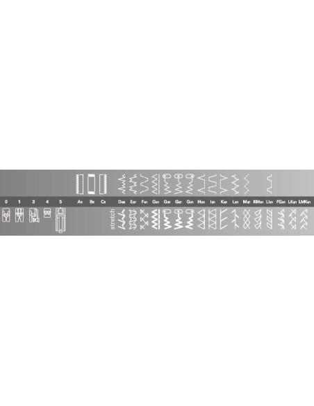 Macchina per Cucire Pfaff Select 3.2 | La tabella punti permette di scegliere sempre quello più valido