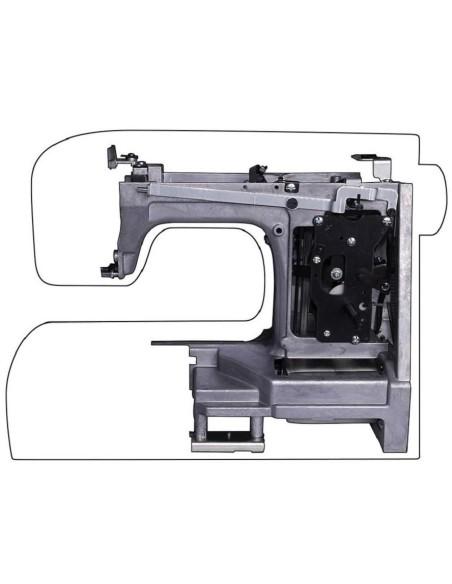 La Macchina per Cucire Singer HD 4411 adotta uno chassis ultra-rigido in lega di metallo per una durata quasi infinita