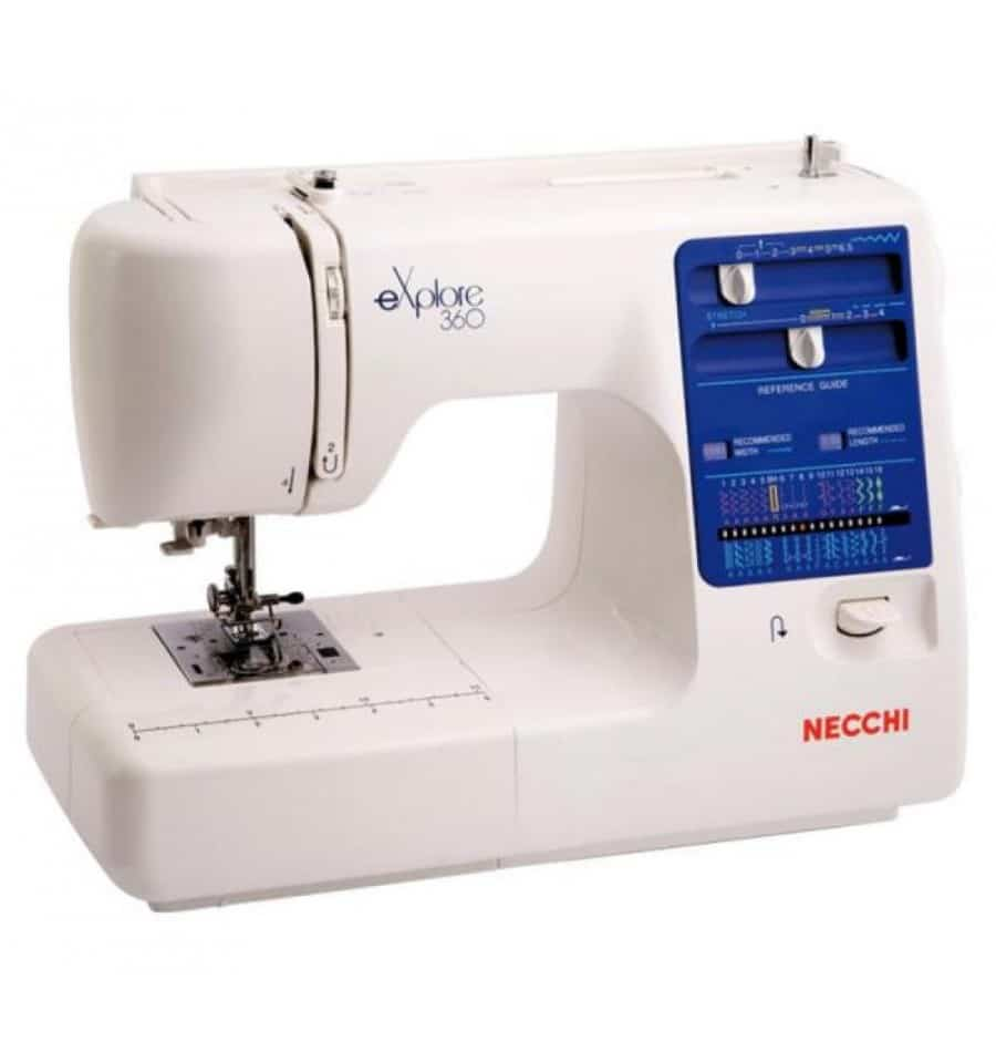 La macchina da cucire Necchi 360 è il supporto ideale per chi desidera investire in un prodotto utilizzo ma decisamente funzionale