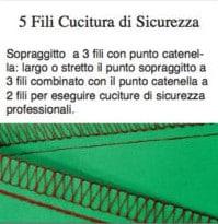 Cucitura di sicurezza a 5 fili