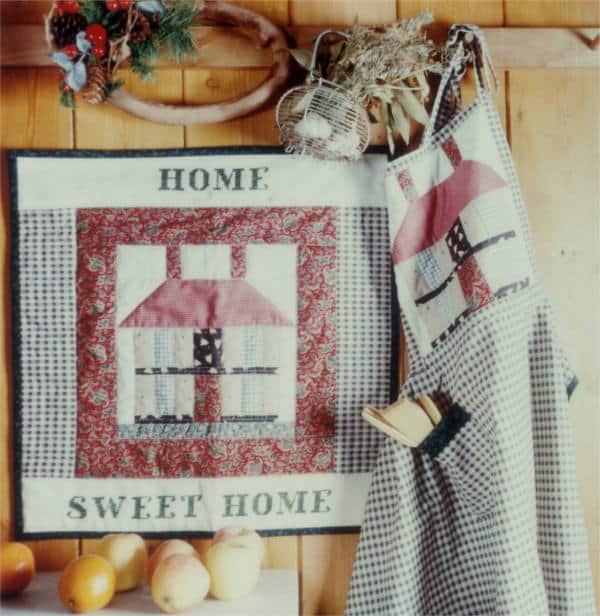 Pannello e grembiule 'Home Sweet Home'