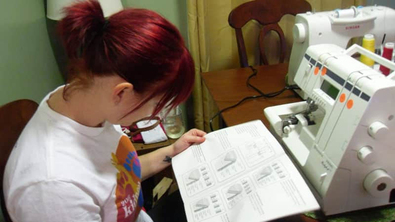 Jo figuring out serger 1